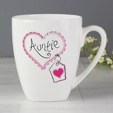 Auntie Heart Stitch Latte Mug