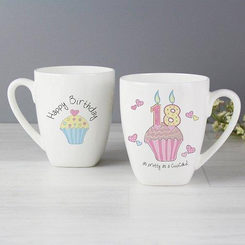 Cupcake 18th Birthday Latte Mug