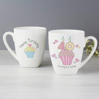 Cupcake 40th Birthday Latte Mug