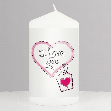 Heart Stitch - I Love You Candle