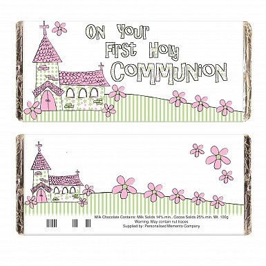 Pink On Your Communion Church Milk Chocolates Bar