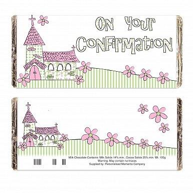 Pink On Your Confirmation Church Milk Chocolates Bar