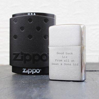 Personalised Chrome Zippo Lighter