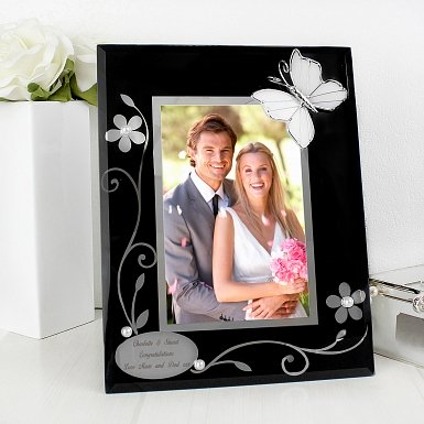 Personalised Black Butterfly 4x6 Photo Frame UK [United Kingdom]