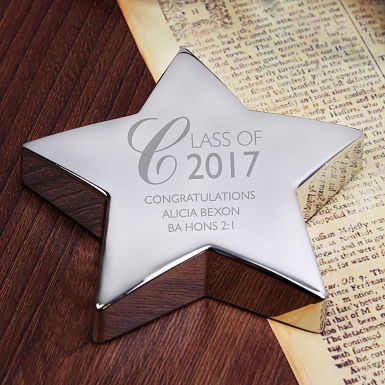 Personalised Class of... Star Paperweight