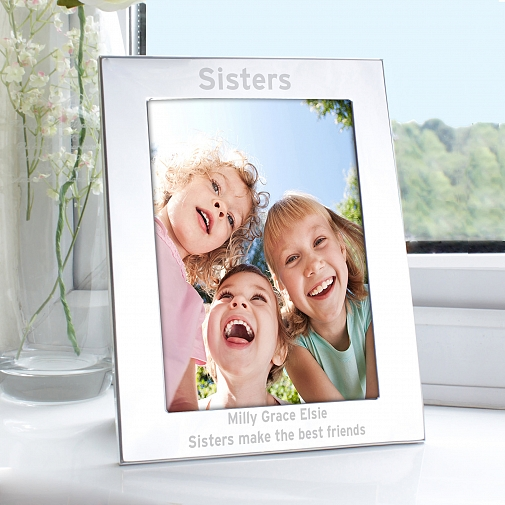 Personalised Silver 5x7 Bold Style Photo Frame