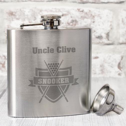 Personalised Snooker Hip Flask