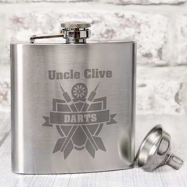 Personalised Darts Hip Flask