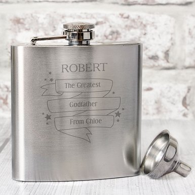 Personalised Shining Star Hip Flask