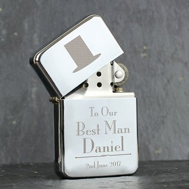 Personalised Decorative Wedding Best Man Lighter