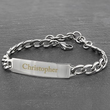 Personalised Stainless Steel Unisex Bracelet delivery to UK [United Kingdom]