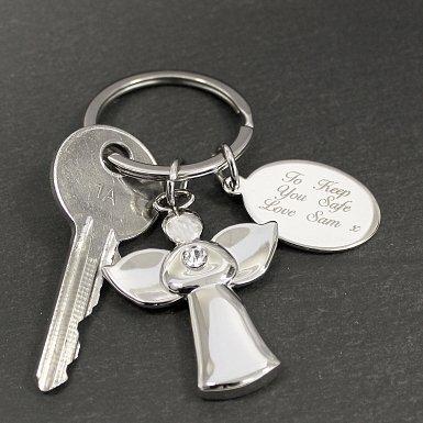 Personalised Angel Keyring