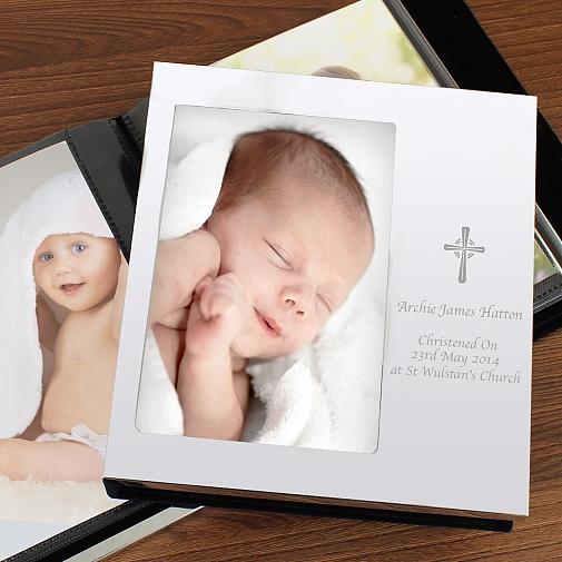 Personalised Cross Photo Frame Album 6x4