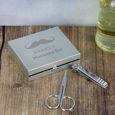 Moustache Manicure Set