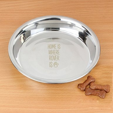 Personalised Home Is Where...Engraved Dog Bowl