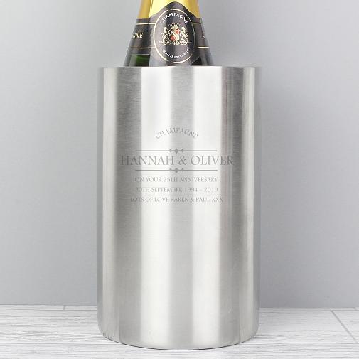 Personalised Diamond Wine Cooler