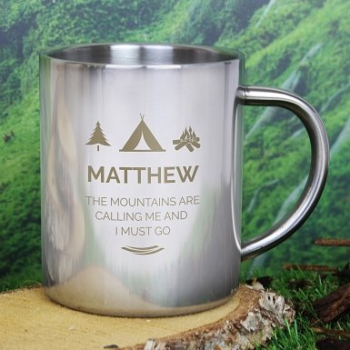Personalised 'Wilderness Wanderer' Metal Mug