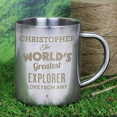 Personalised 'The World's Greatest' Metal Mug