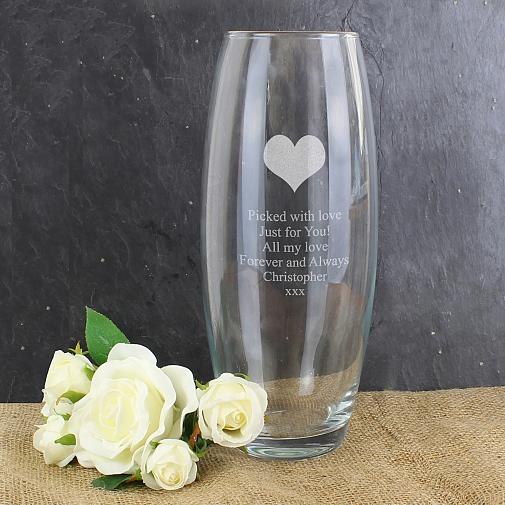 Personalised Heart Bullet Vase