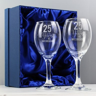 Personalised Years As... Wine Glass Set
