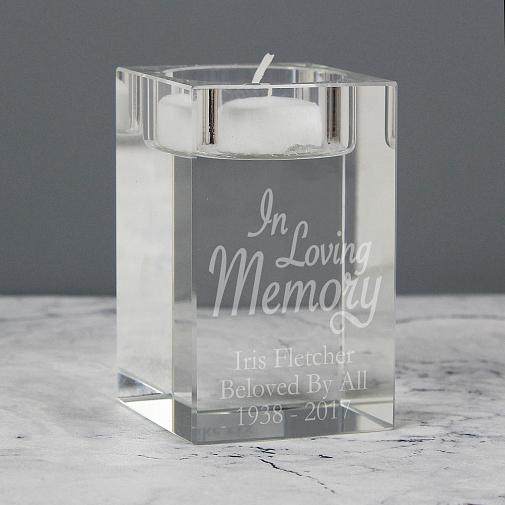 Personalised In Loving Memory Tea Light Candle Holder