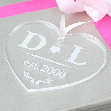 Personalised Acrylic Heart Decoration