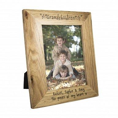 Personalised 5x7 Grandchildren Wooden Photo Frame