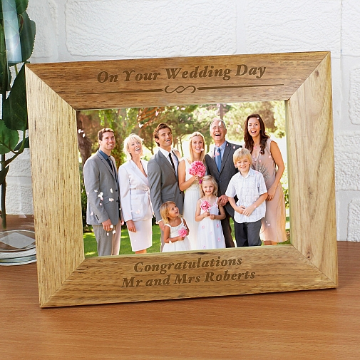 Personalised Formal 5x7 Wooden Photo Frame