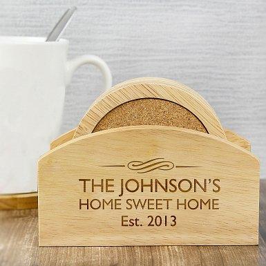 Personalised Decorative Coaster Set