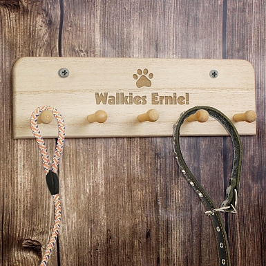 Personalised Paw Print Dog Lead Holder