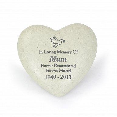 Personalised Dove Heart Memorial