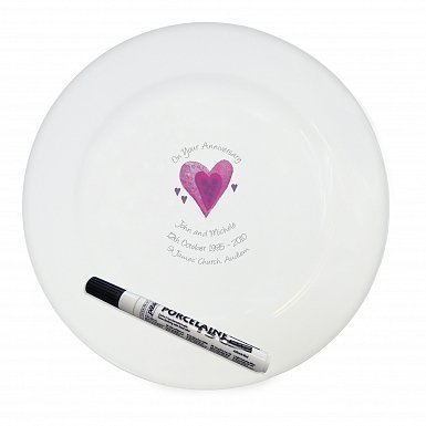 Personalised Anniversary Message Plate