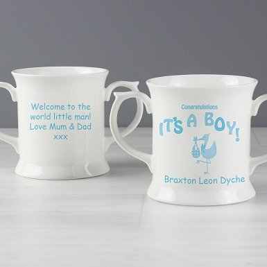 Personalised Stork It's a Boy Loving Mug