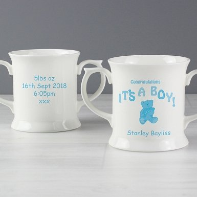 Personalised Teddy It's a Boy Loving Mug