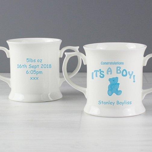 Personalised Teddy It's a Boy Loving Mug