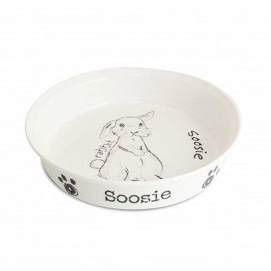 Personalised Scribble Rabbit Bowl