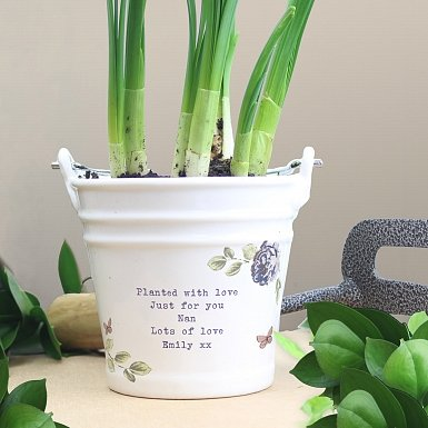 Secret Garden Porcelain Bucket - Any Message