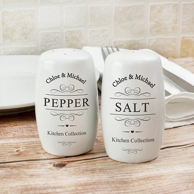 Personalised Salt and Pepper Pots
