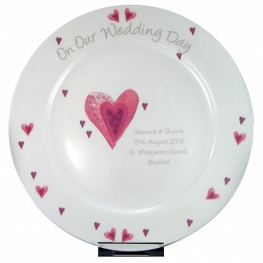 Personalised Heart Wedding Plate