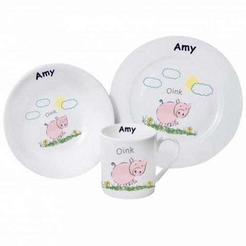 Personalised Oink Breakfast Set