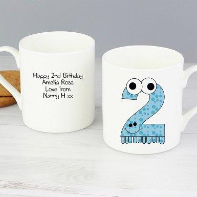 Personalised Monster Age Balmoral Mug - Age 2