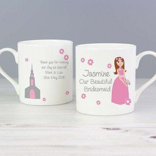 Personalised Fabulous Bridesmaid Mug