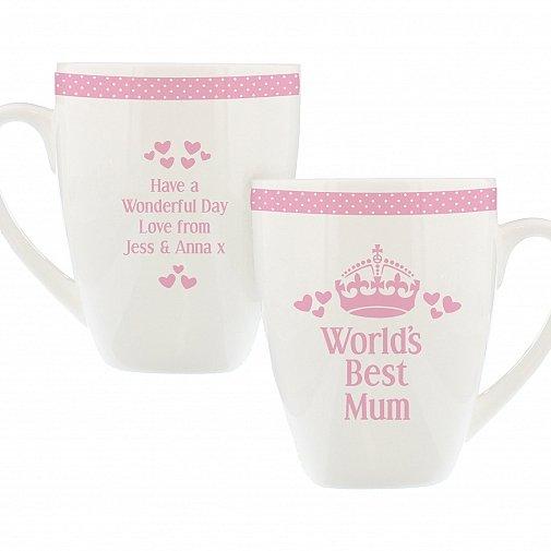 Personalised Pink Worlds Best Latte Mug