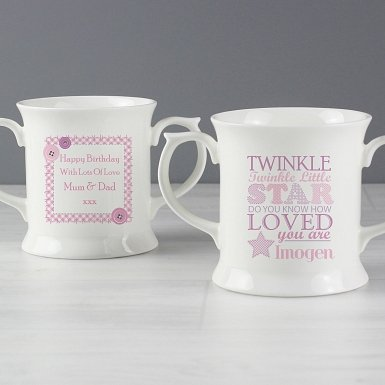 Personalised Twinkle Girls Loving Mug
