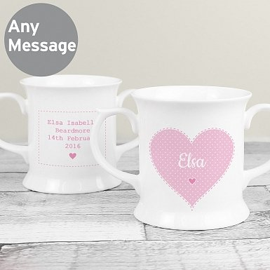 Personalised Stitch & Dot Girls Loving Mug