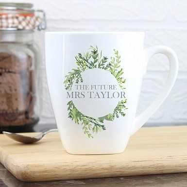 Personalised Fresh Botanical Latte Mug