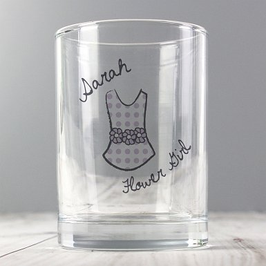 Personalised Dotty Wedding Young Female Juice Glass