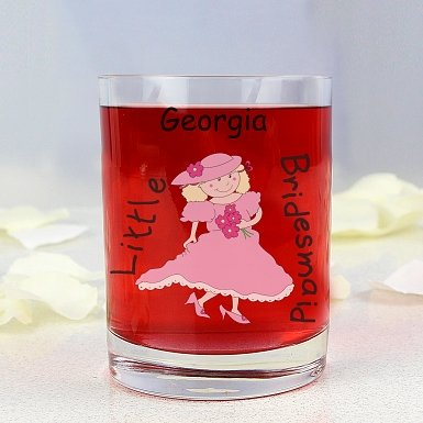 Personalised Cartoon Wedding Young Female Juice Glass