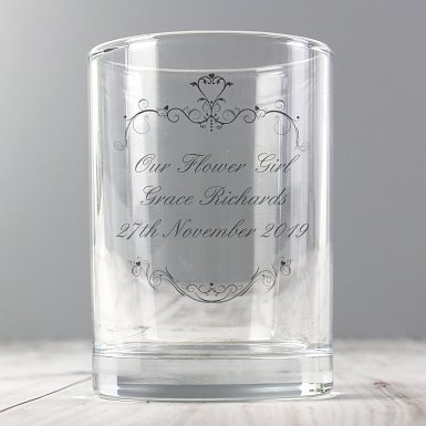 Personalised Ornate Swirl Juice Glass