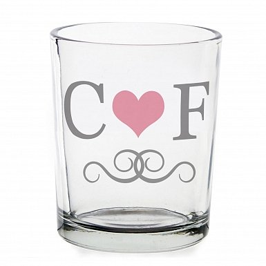 Personalised Monogram Votive Candle Holder